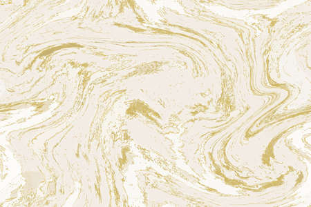 White and gold marble background. Marbling seamless pattern. Abstract stone texture. Good for wallpapers, posters, cards, invitations, websites. Stock illustration