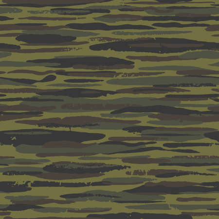 Abstract seamless hand drawn background with stroke line. Grunge camo pattern. Vector texture