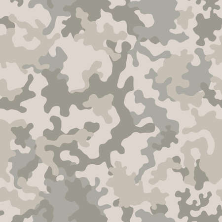 Seamless camouflage pattern. Military camouflage texture. Light brown soldier desert camo. Vector fabric textile print designs.