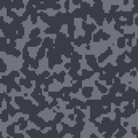 Black camouflage seamless pattern for your design. Vector camo texture