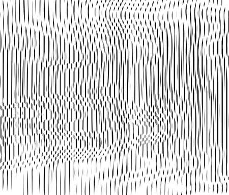 Abstract background with lines of variable thickness. Sample of the semitone line of the effect. Rippled surface. Vector moire texture Vektorové ilustrace