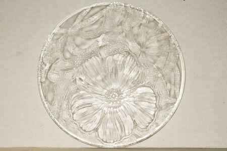 Patterns on a glass plate photo