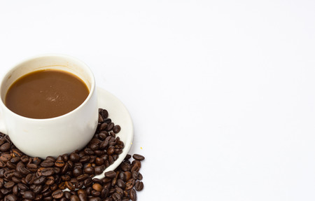Coffee with beans photo