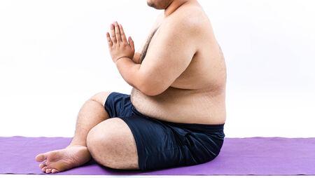 hombre flaco: grasa Foto de archivo
