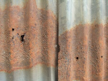 RUST ON ZINC  TEXTURE Stock Photo