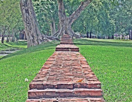graden: Graden walkway Stock Photo