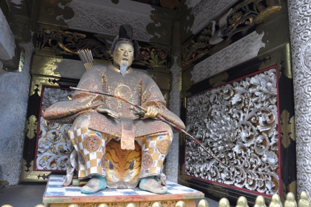 sutra: Statue of Shogun Ieyasu at Toshogu Shrine, Nikko ,Japan Editorial