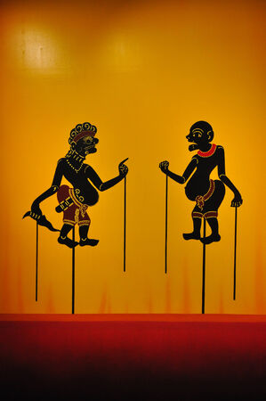 figuring: Shadow puppet (Nang Talung) was one form of public entertainment in the south of Thailand.