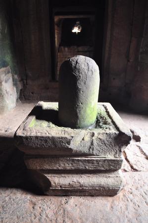 linga: Linga at Bayon temple in Cambodia