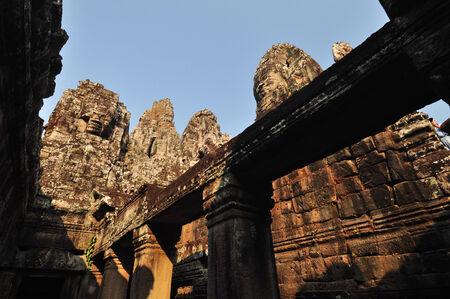 southeast asia: Bayon Temple in Angkor,Cambodia,Southeast Asia