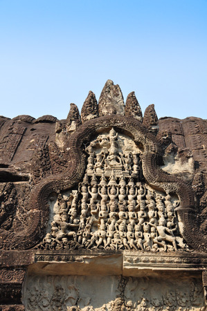 Great detai of Angkor Wat Temple, Siem reap in  Cambodia  photo