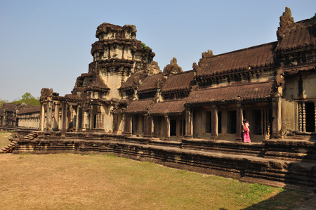 The Gallery of Bas-Reliefs from gopura III at Angkor Wat,Cambodia photo