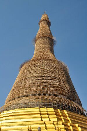 daw: Shwe Maw Daw Pagoda in Yangon,Myanmar