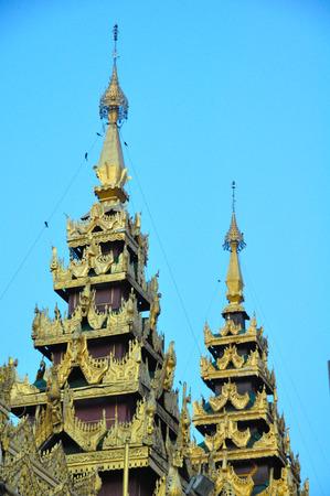 public domain: Shwedagon Pagoda in Yangon, Myanmar Burma They are public domain or treasure of Buddhism Stock Photo