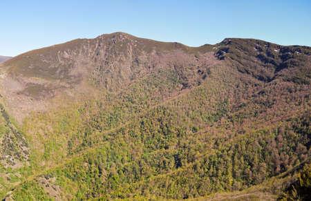 panoramic view of the devesa da rogueira in Folgoso do Courel in Ourense, Galicia, Spain