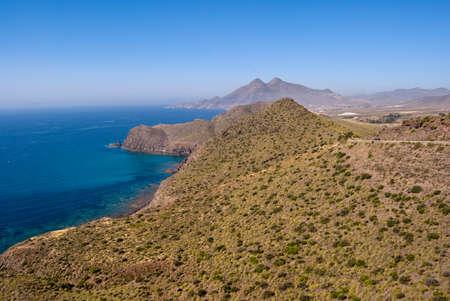 landscape of the Costa de Almeria, Andalusia Spain Stock Photo