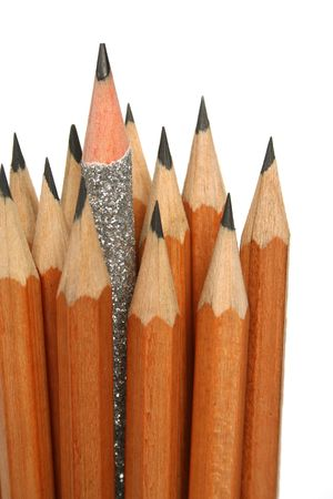 Unusual pencil in an environment of usual pencils 6
