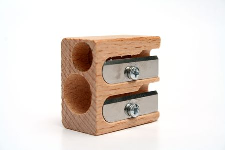 Universal sharpener for pencils made of wood detailed
