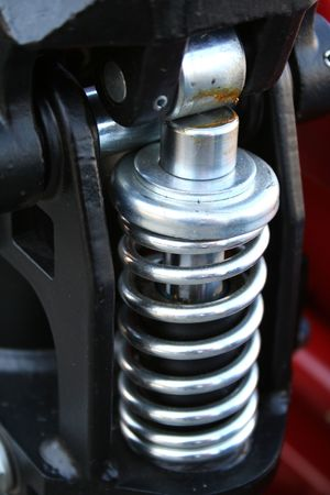 Spring element in the hydraulic elevating mechanism, (look similar images in my portfolio)