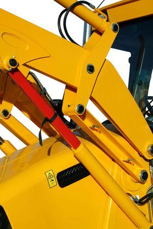 Elementi di idraulica universale bulldozer di colore giallo su sfondo bianco, isolati (simile immagini nel mio portafoglio)  Archivio Fotografico - 636581