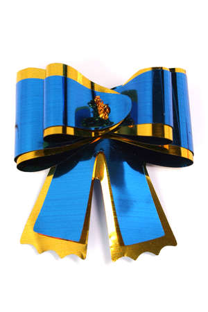 The dark blue isolated celebratory bow for a gift and congratulations  Stock Photo