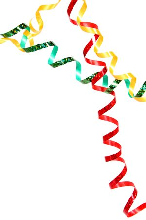 Fl�mula de Celebratory del color rojo, verde y amarillo en un fondo blanco