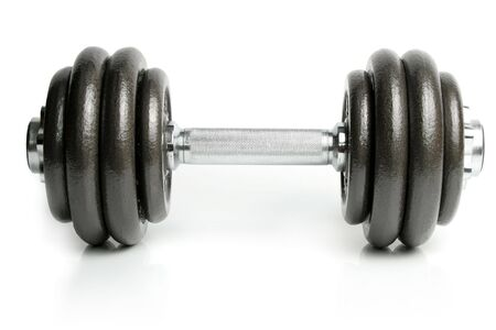 Dumbbell isolated on white 1