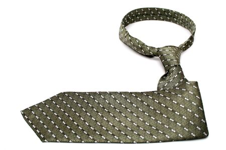 Tie of the businessman the index with a simple pattern, isolated on white, (look similar images in my portfolio) photo
