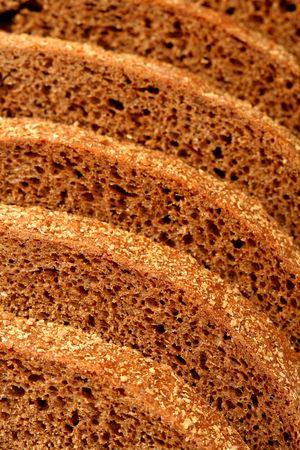 Rye bread sliced, background photo