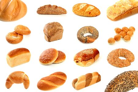 Various types of freshly baked bread photo