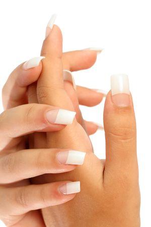 Manicure, isolated on white