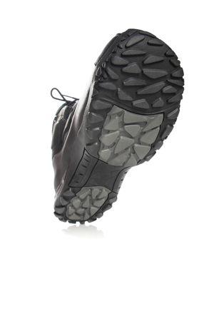 Men's black winter boot, isolated on white Stock Photo - 4623371