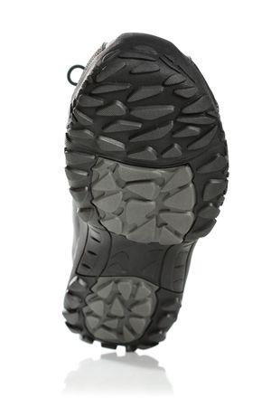 Men's black winter boot, isolated on white Stock Photo - 4623288