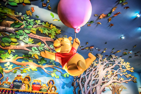 HONG KONG DISNEYLAND - MAY 2015: Many adventures of winnie the Pooh Banco de Imagens - 76620670