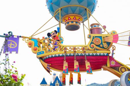 HONG KONG DISNEYLAND - MAY 2015: Mickey in the daytime parade