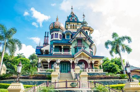 홍콩 디즈니 랜드 - 2015 년 5 월 : 미스터리 매너, 미스터리 하우스