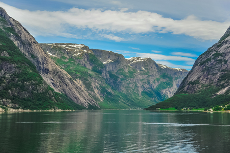 Beautiful landscape and scenery of fjord, Norway