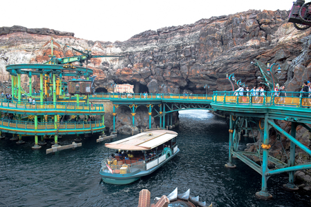 CHIBA, JAPAN - MAY, 2016: Mysterious Island attraction in Tokyo Disneysea located in Urayasu, Chiba, Japan