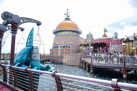 CHIBA, JAPAN - MAY, 2016: Port Discovery area in Tokyo Disneysea located in Urayasu, Chiba, Japan Editorial