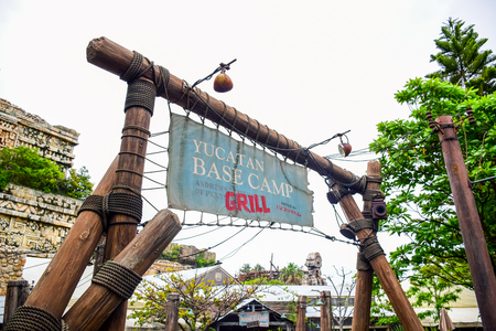 CHIBA, JAPAN - MAY, 2016: Yucatan Base Camp Grill restaurant in Lost River Delta, Tokyo Disneysea located in Urayasu, Chiba, Japan