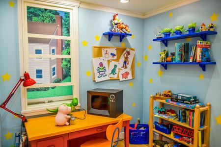 lightyear: TOKYO, JAPAN : Toy Story room setup in Disneystore located at Shibuya, Tokyo