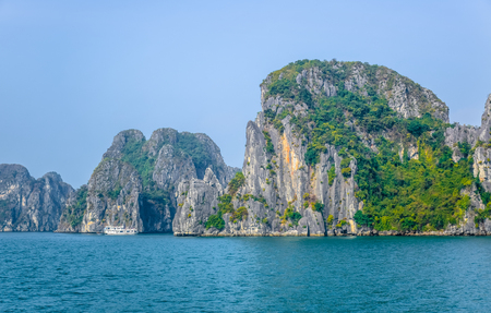 Beautiful view of Ha Long Bay, a very popular travel destination in Quang Ninh Province, northeast Vietnam