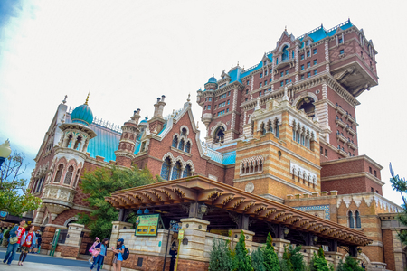 storybook: CHIBA, JAPAN: Tower of Terror attraction in Tokyo Disneysea located in Urayasu, Chiba, Japan