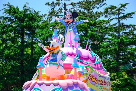 hilarious: CHIBA, JAPAN: Tokyo Disneyland easter daytime parade Urayasu, Japan Editorial