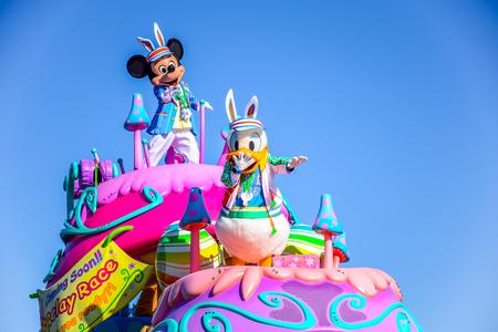 CHIBA, JAPAN: Tokyo Disneyland easter daytime parade Urayasu, Japan 新闻类图片