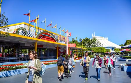 CHIBA, JAPAN: Grand Circuit Raceway attraction in Tokyo Disneyland