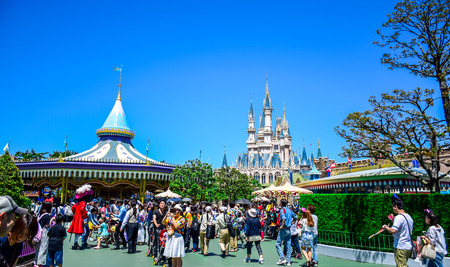 CHIBA, JAPAN: Tourist enjoying their time in Tokyo Disneyland