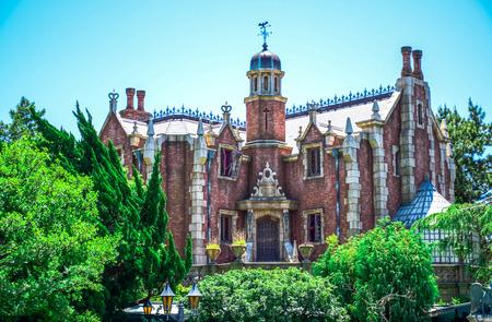 CHIBA, JAPAN: Haunted Mansion attraction in Fantasyland, Tokyo Disneyland Editorial