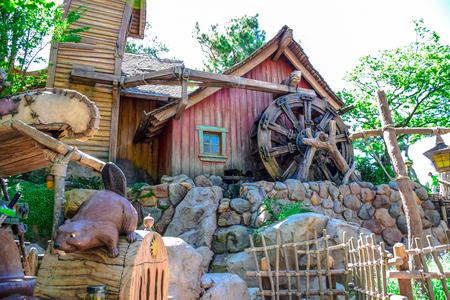 dream land: CHIBA, JAPAN: Beaver Brothers house in Critter Country, Tokyo Disneyland Editorial