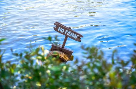 storybook: CHIBA, JAPAN: No Fishing in the river, Tokyo Disneyland